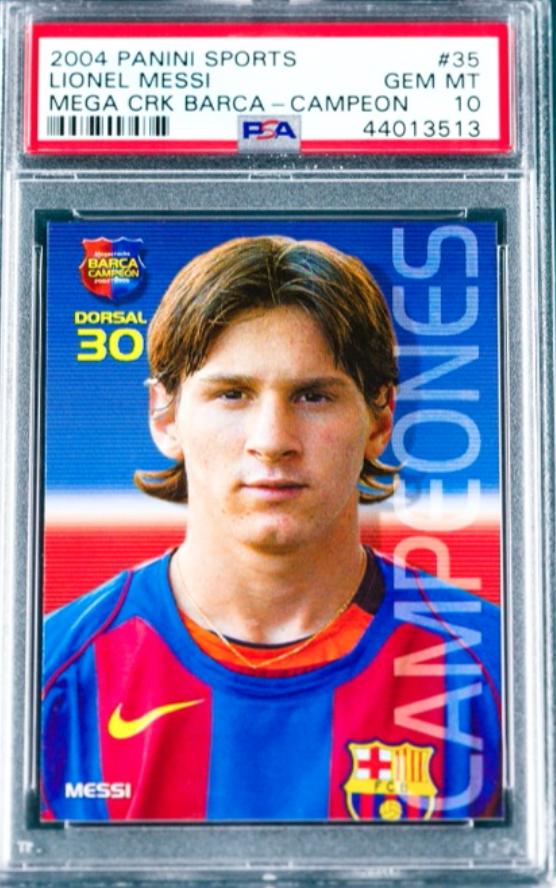 2004 Mega Cracks Lionel Messi Rookie Card (PSA 10)