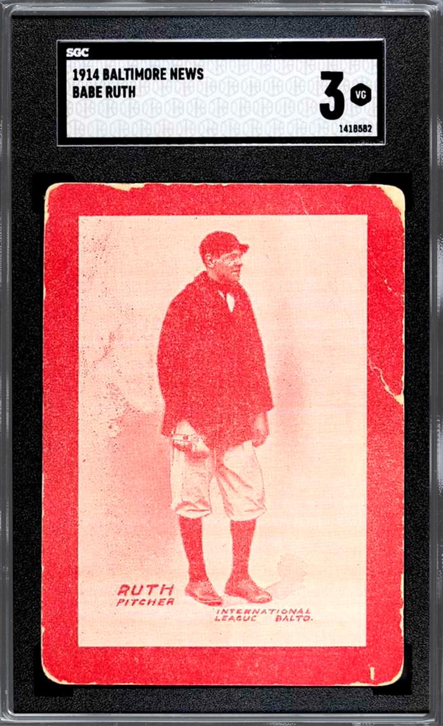 1914 Baltimore News Babe Ruth (SGC 3)