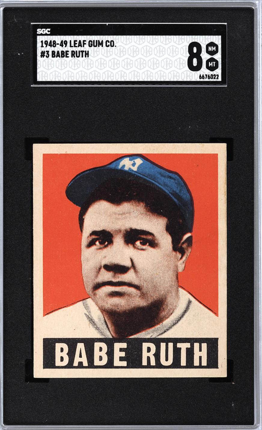 1948 Leaf Babe Ruth (SGC 8/PWCC-A)