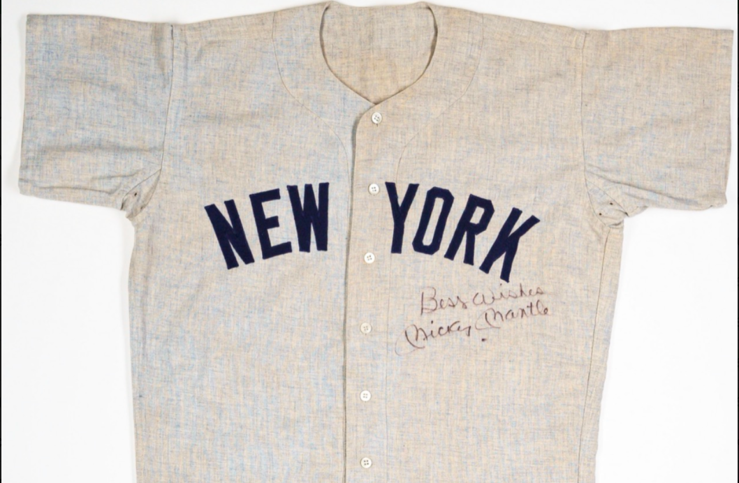 1960 Mickey Mantle Game-Worn Jersey (Signed)
