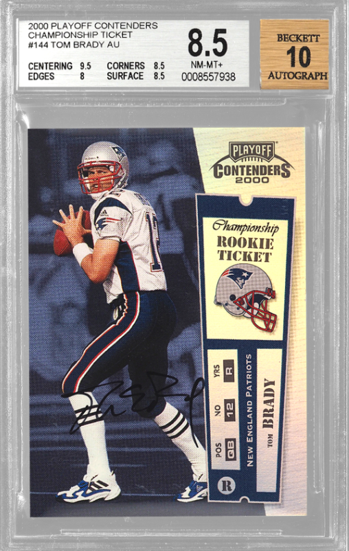 2000 Playoff Contenders Tom Brady Championship Ticket Rookie Card