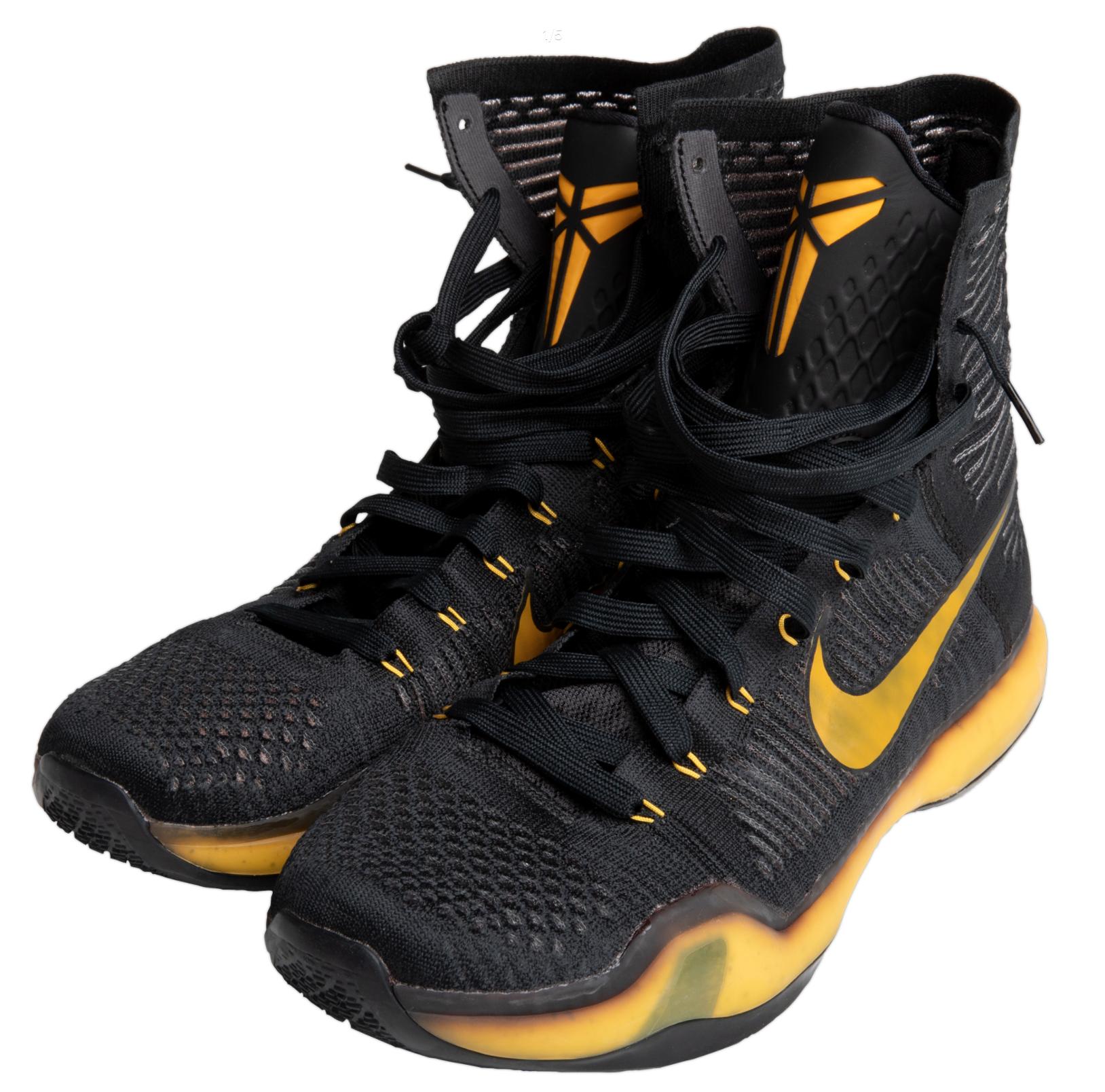 Kobe Bryant Finale Season Game Worn Sneakers