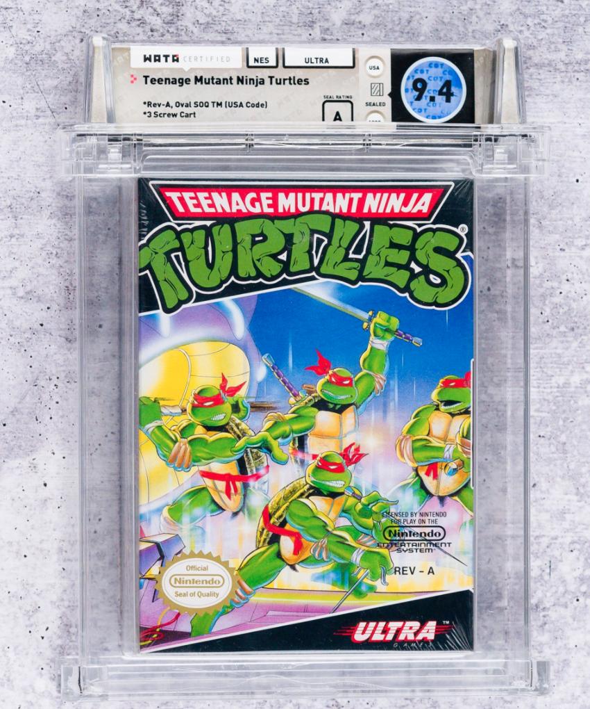 1989 NES Teenage Mutant Ninja Turtles (WATA 9.4, Seal A)