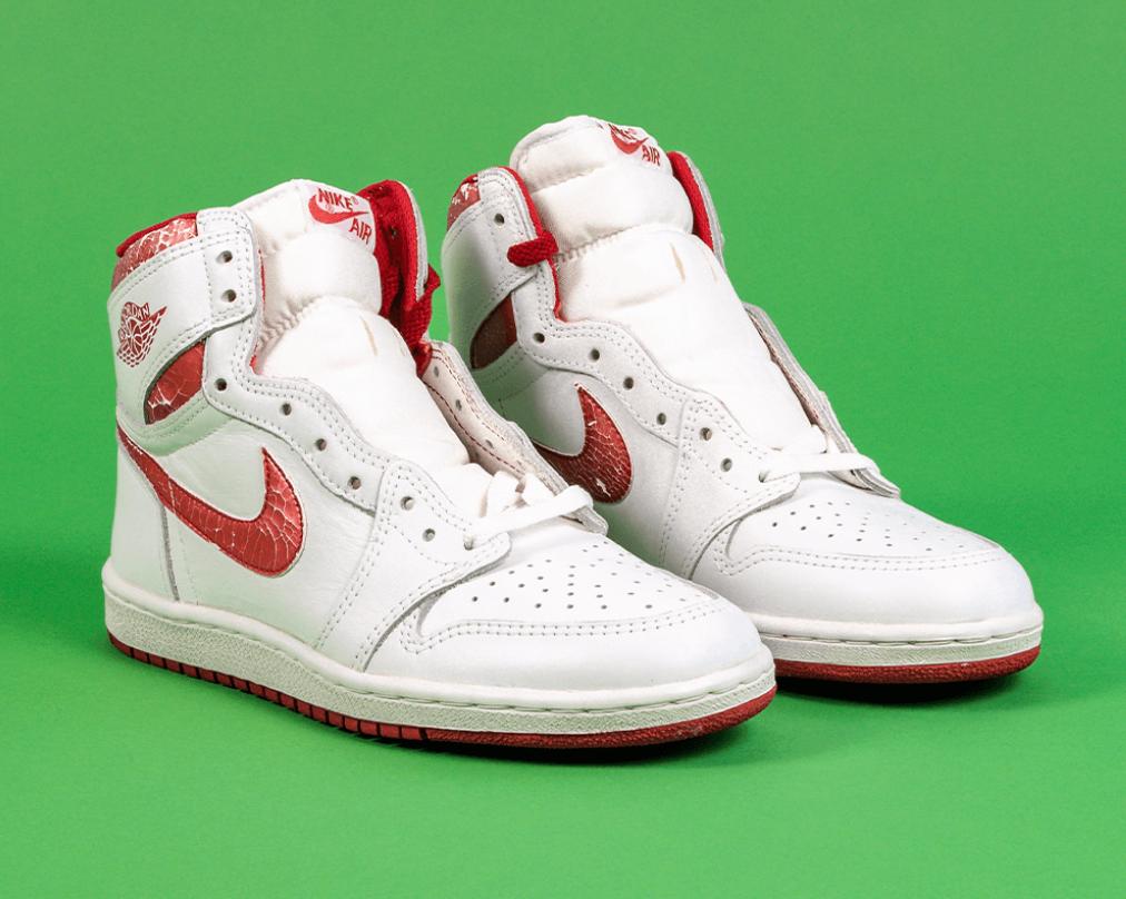 """1985 Air Jordan 1 """"Metallic"""" Red Sneakers"""