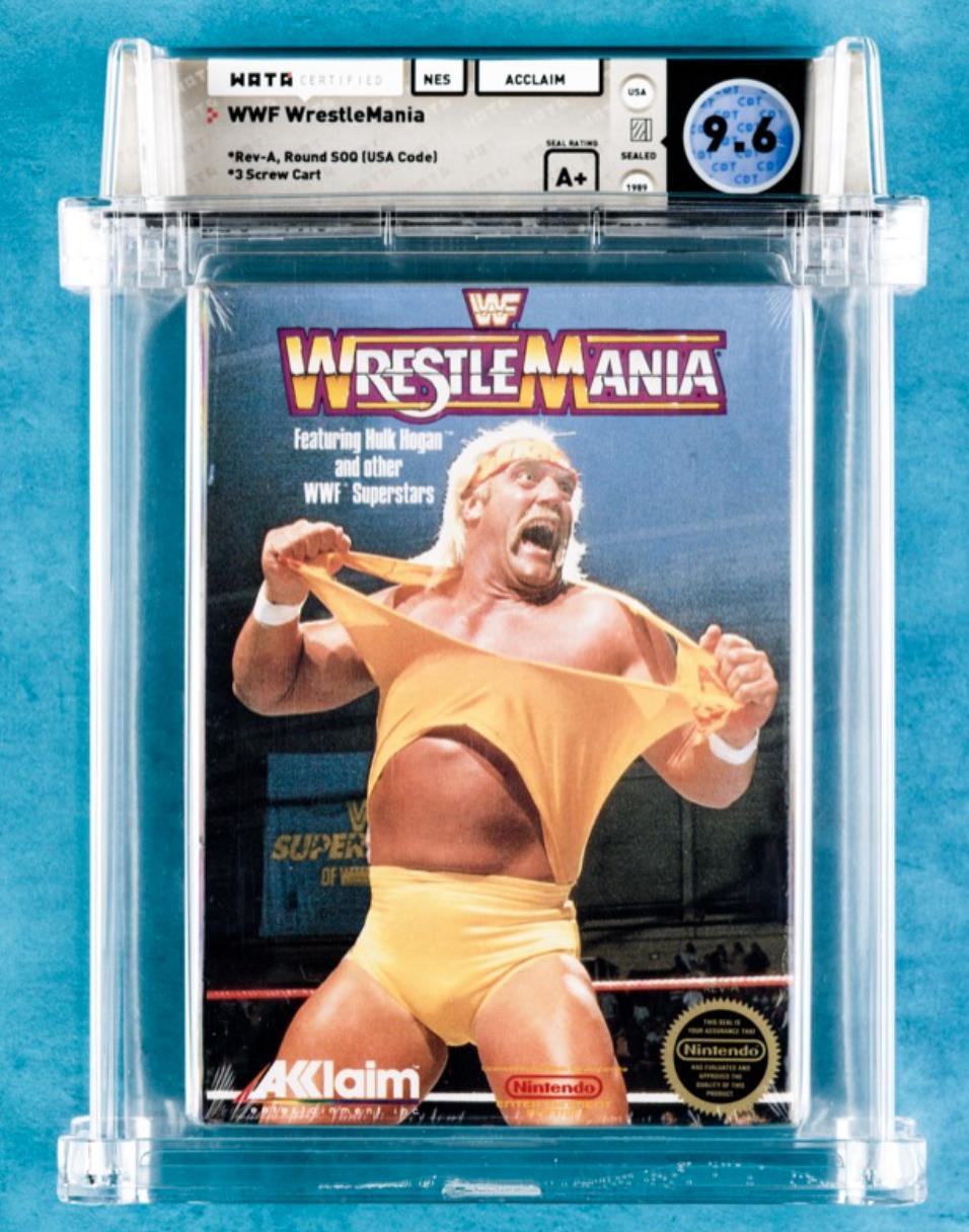 1989 NES WWF WrestleMania (WATA 9.4, A+ Sealed)