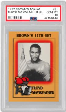 1997 Brown's Boxing Floyd Mayweather Jr Rookie Card (PSA 10)