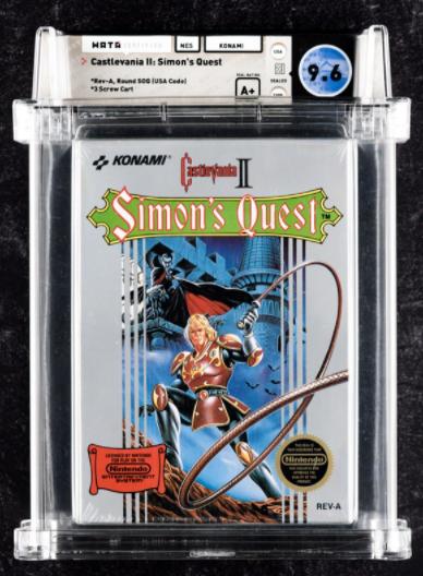 1988 NES Castlevania II: Simon's Quest (WATA 9.6, A+)
