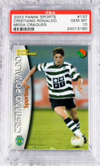 2003 Panini Cristiano Ronaldo Rookie Card (PSA 10)