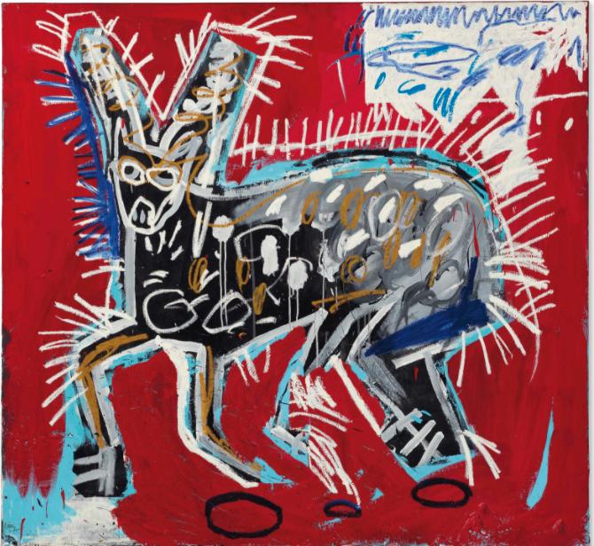 Red Rabbit by Jean-Michel Basquiat
