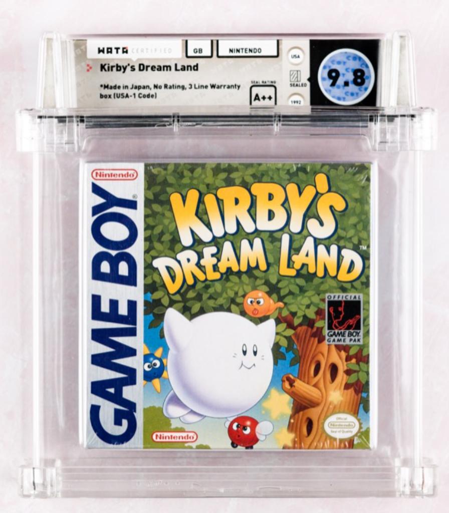1992 Game Boy Kirby's Dream Land (WATA 9.8, A++)