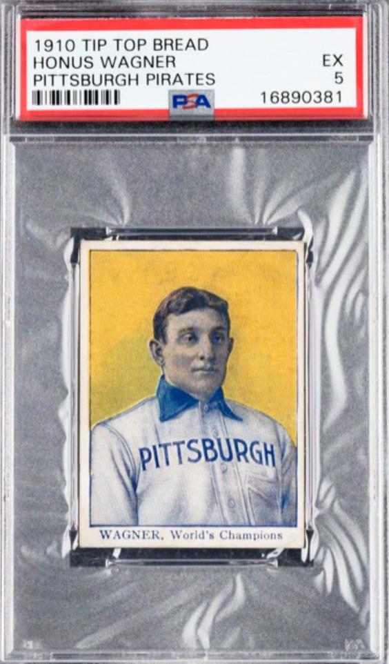 1910 Tip-Top Bread Honus Wagner Card (PSA 5)