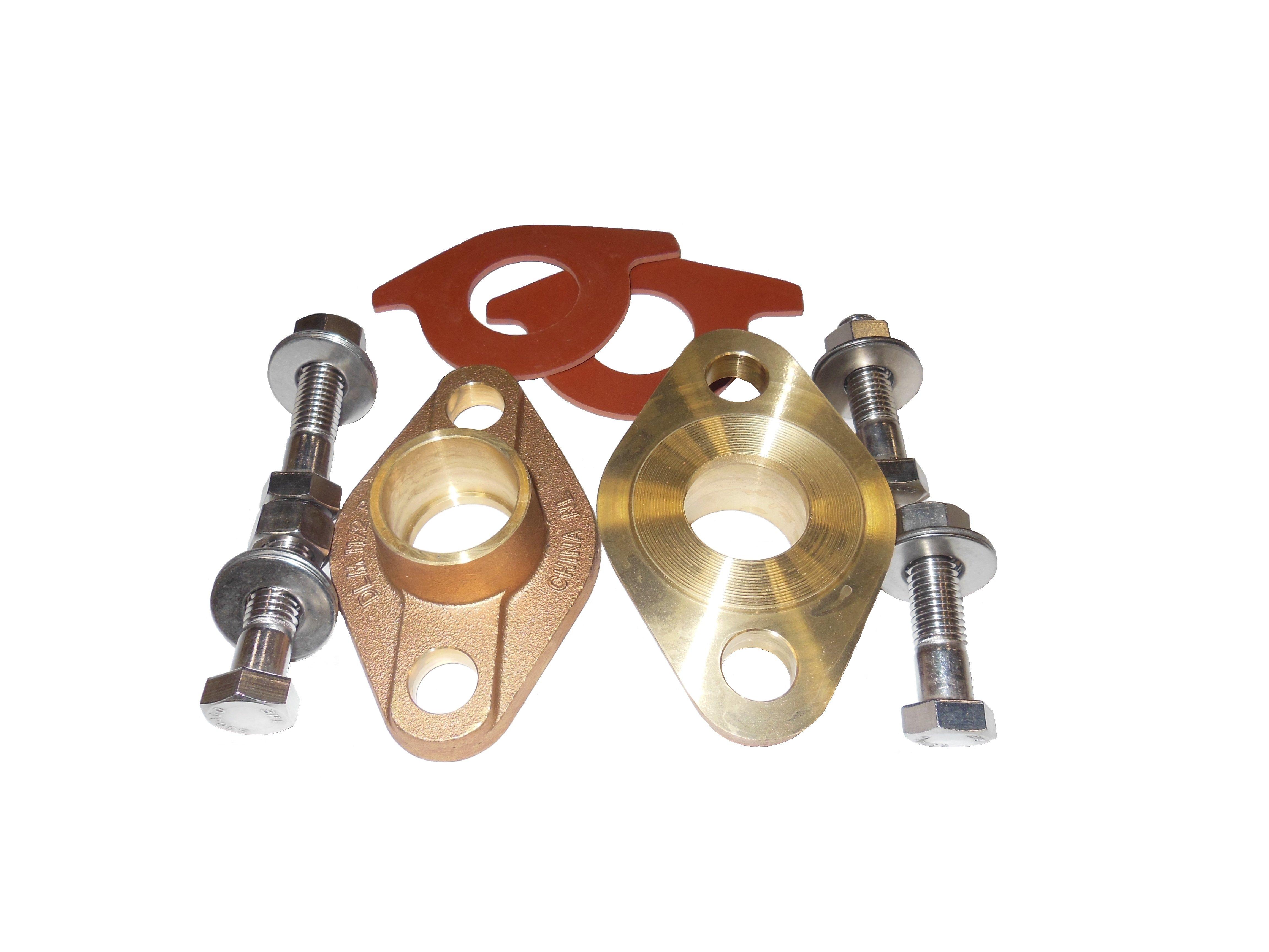 Oval Flange Kit - Brass, Solder