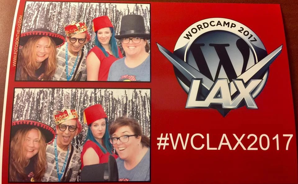 Photobooth photos of Kitty and friends at #WCLAX2017