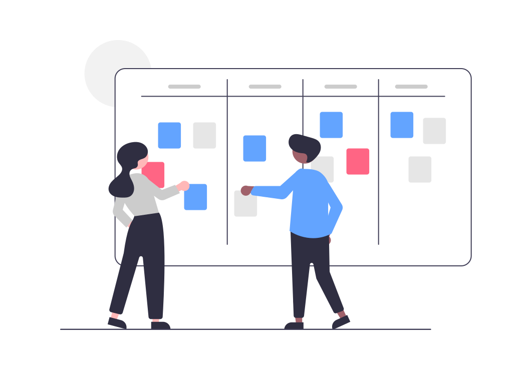 icon of 2 people brainstorming together
