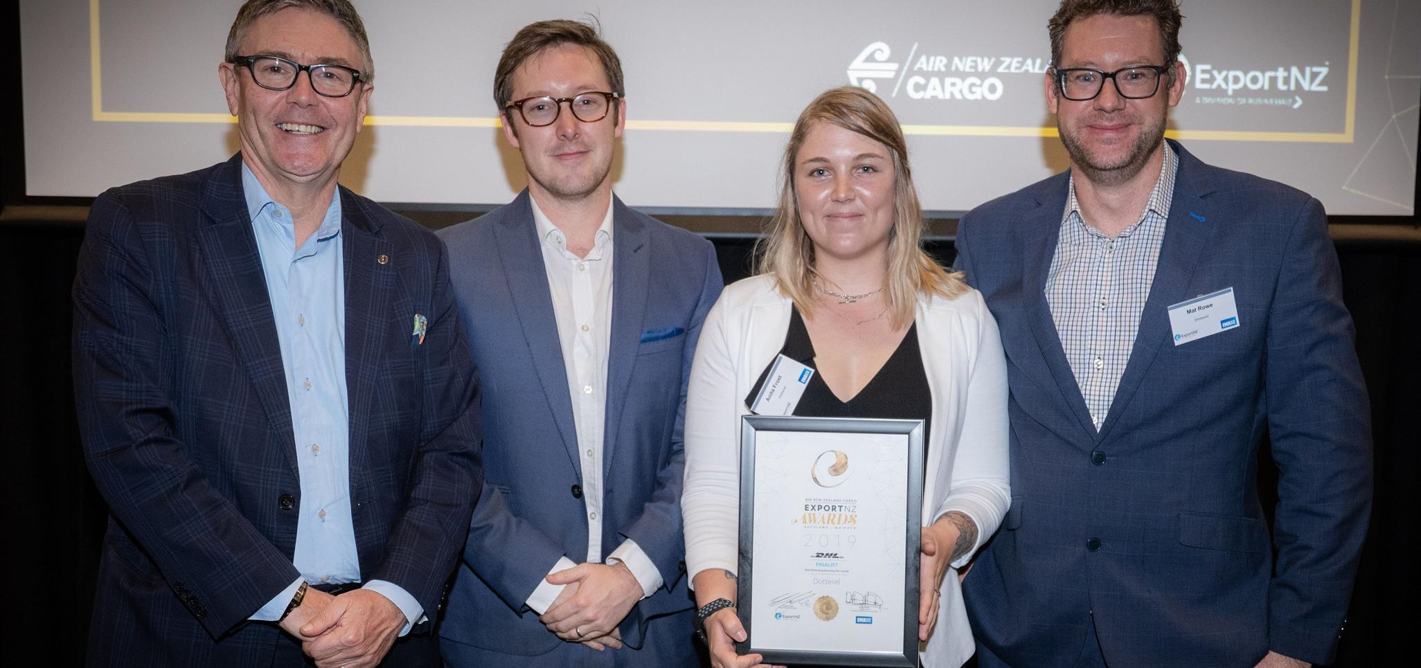 Dotterel announced as finalist in NZ Export Awards