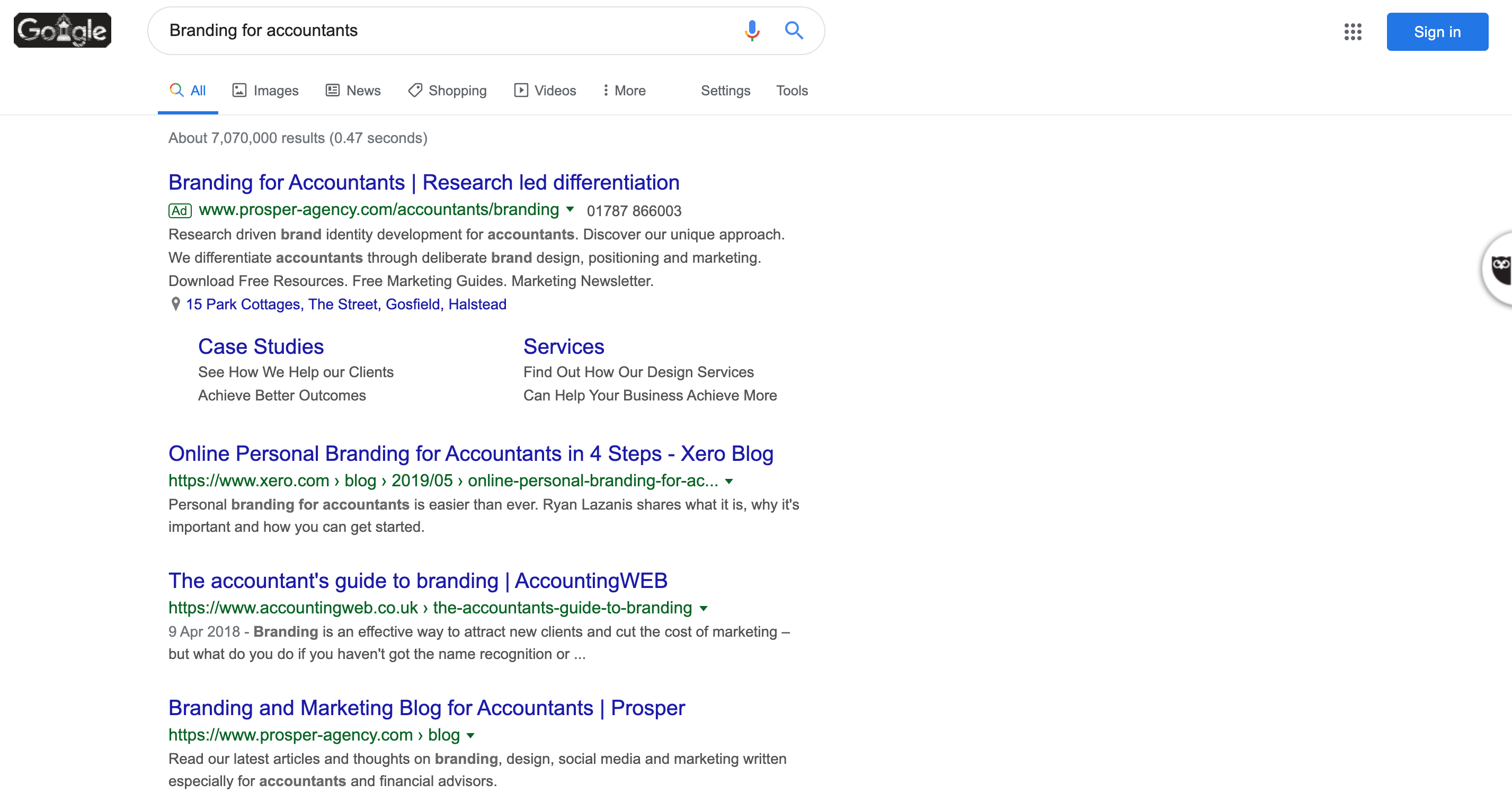 How we organically ranked Prosper onto page one of Google (without spending money with Google)