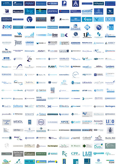 484 accountants logos organised by colour