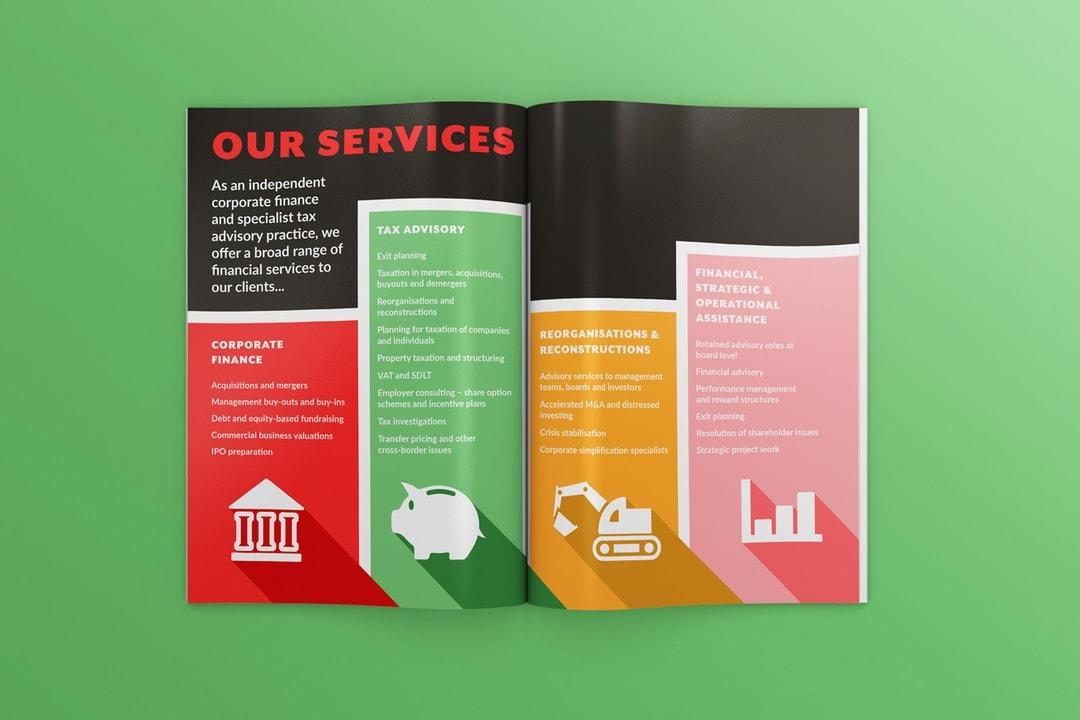 Olivine Partbers brochure design Prosper