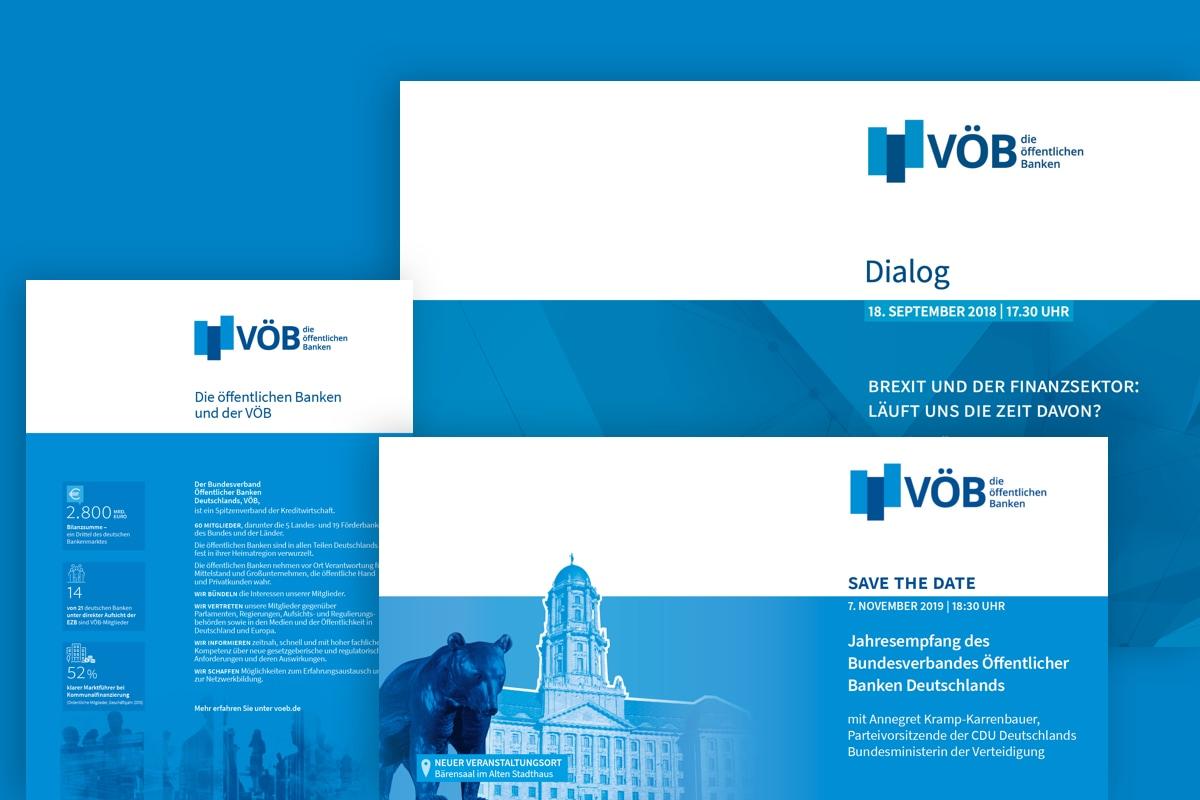 Bildmontage der Einladungen des VÖB