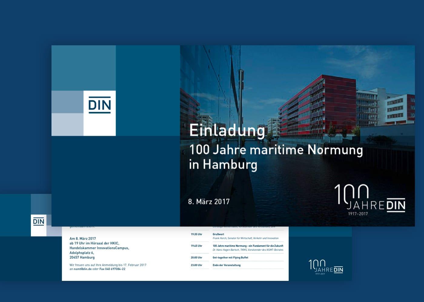 Beispiel Einladungen von DIN e.V.