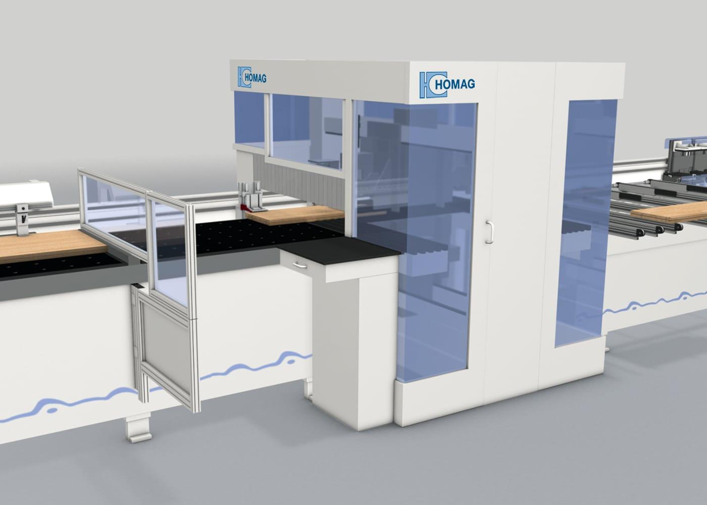 3D Bild einer CNC Maschine der HOMAG AG