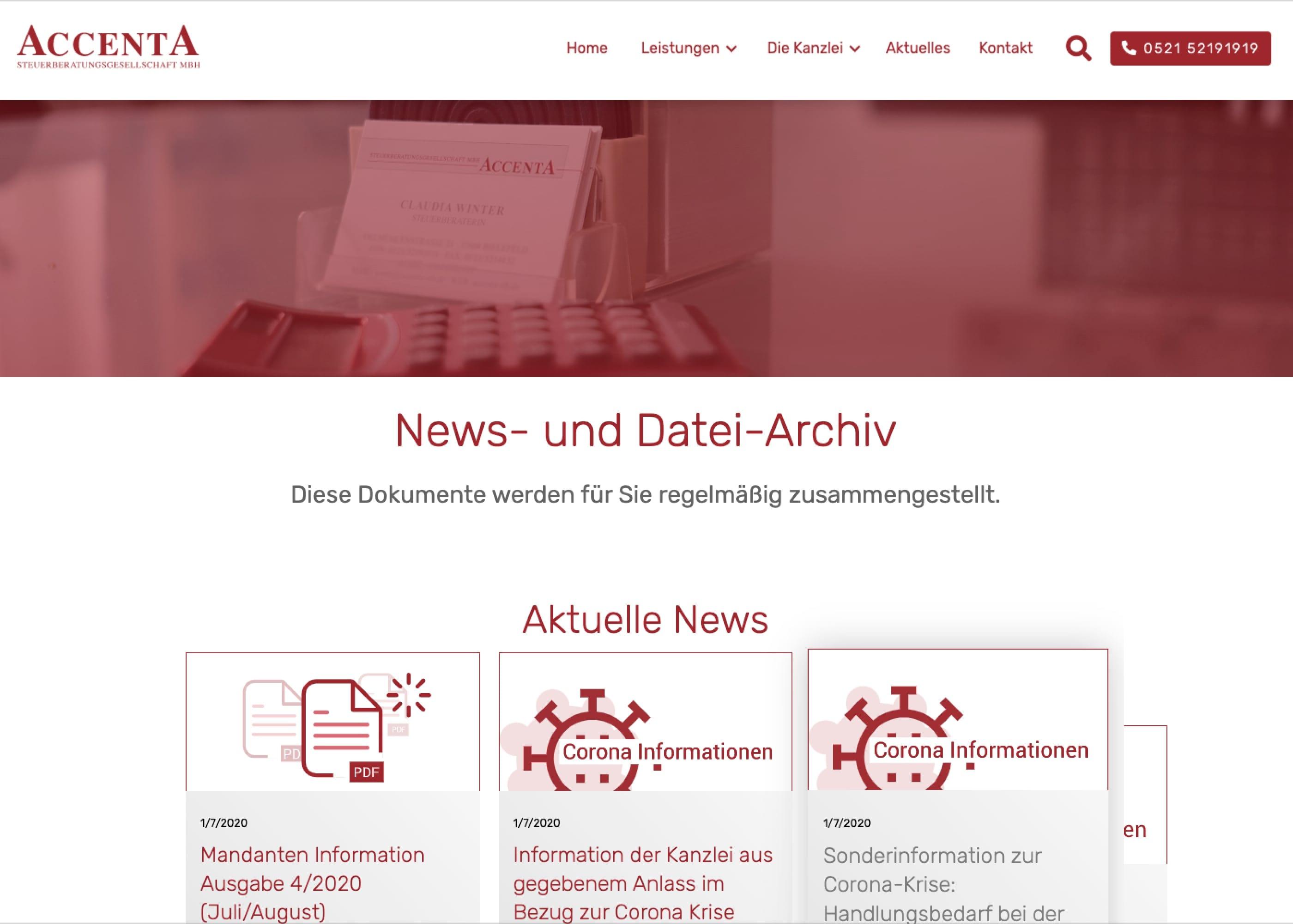 ACCENTA Steuerberatungs GmbH Newsübersicht