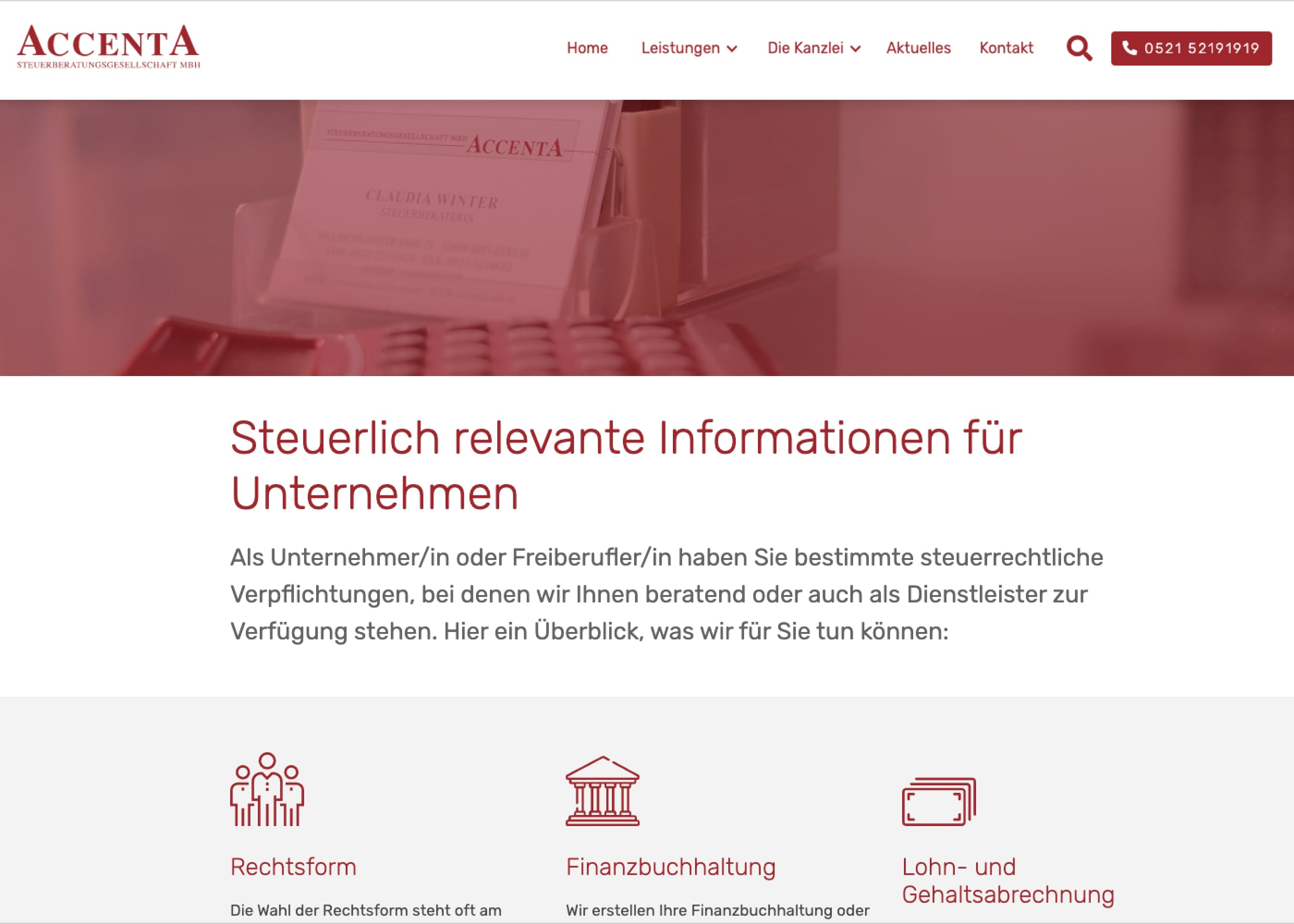 ACCENTA Steuerberatungs GmbH Folgeseite