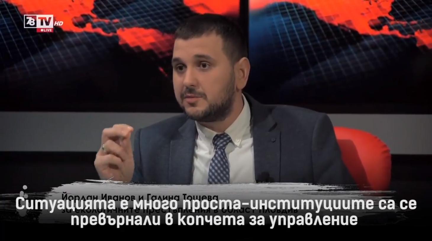 Йордан Иванов в ТВ 7/8 - Студио Хъ