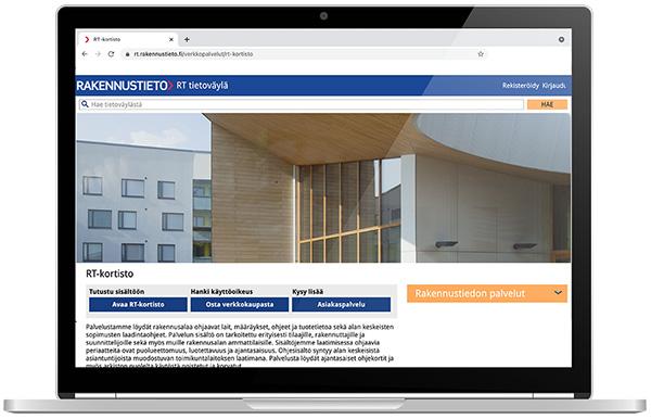RT-kortisto on rakennusalan monipuolisin ja laajin tietopalvelu