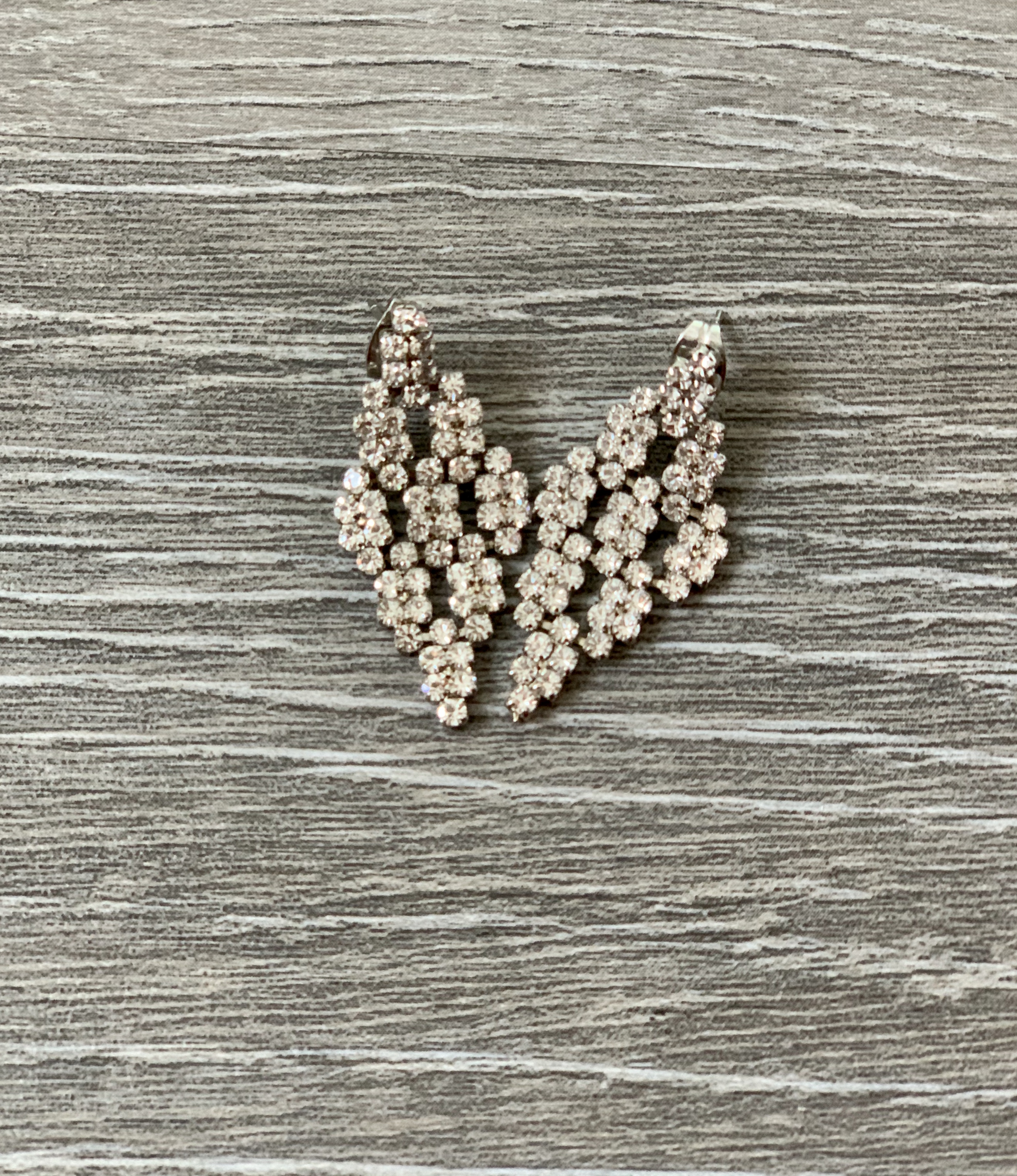 Small Silver Chandelier Floral Earring