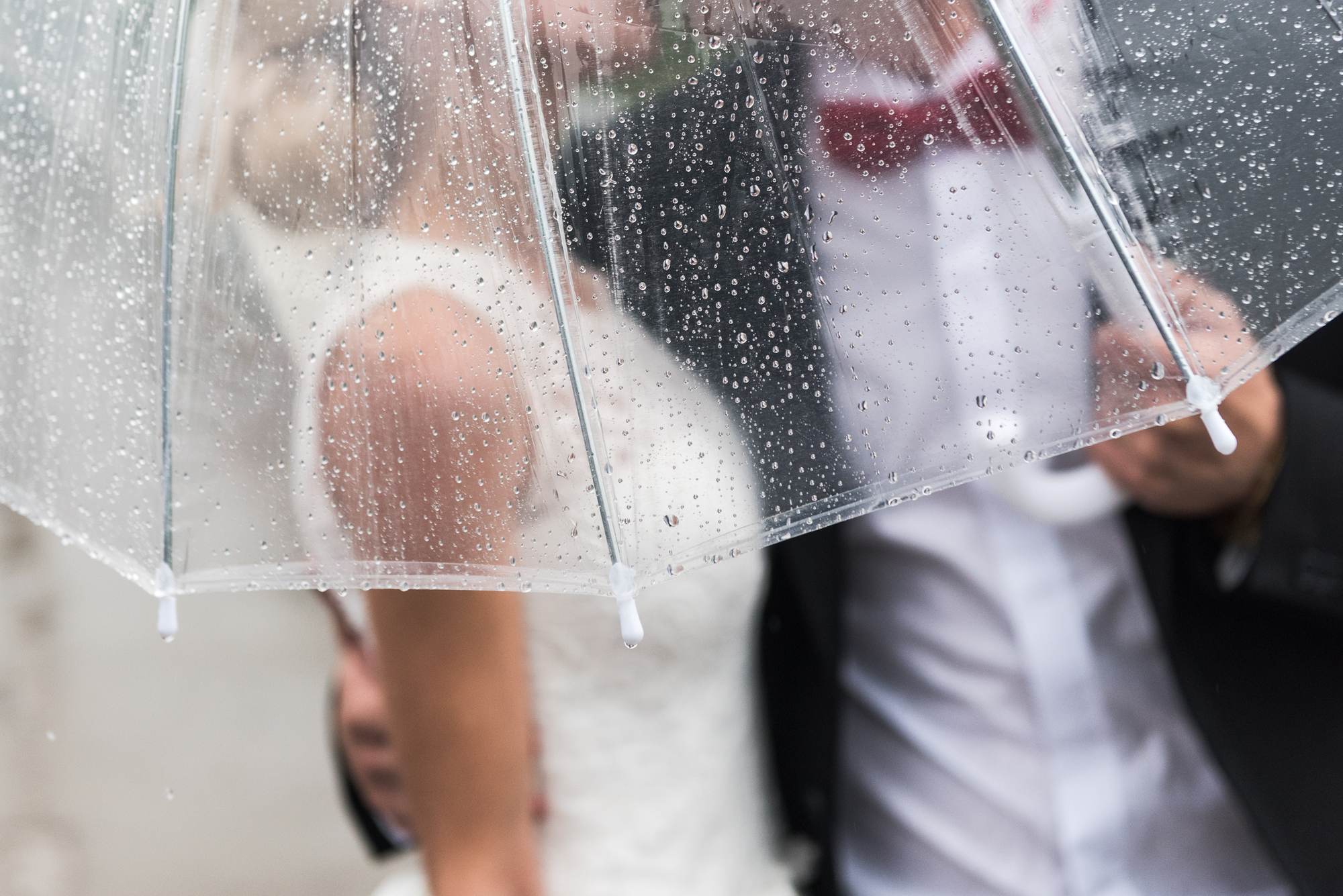 Clever Tips to Rainproof Your Wedding Dress