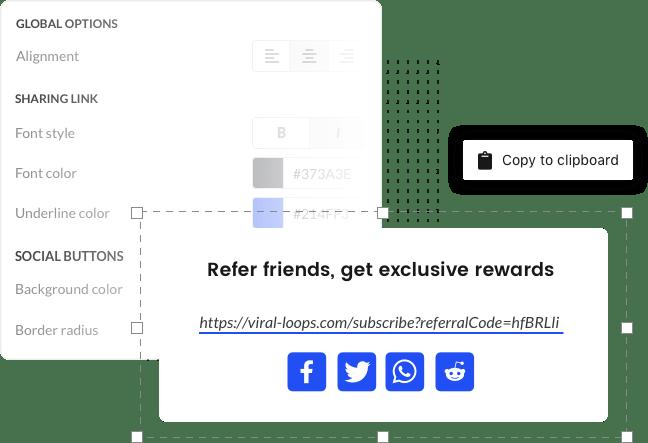Viral Loops customizable widget