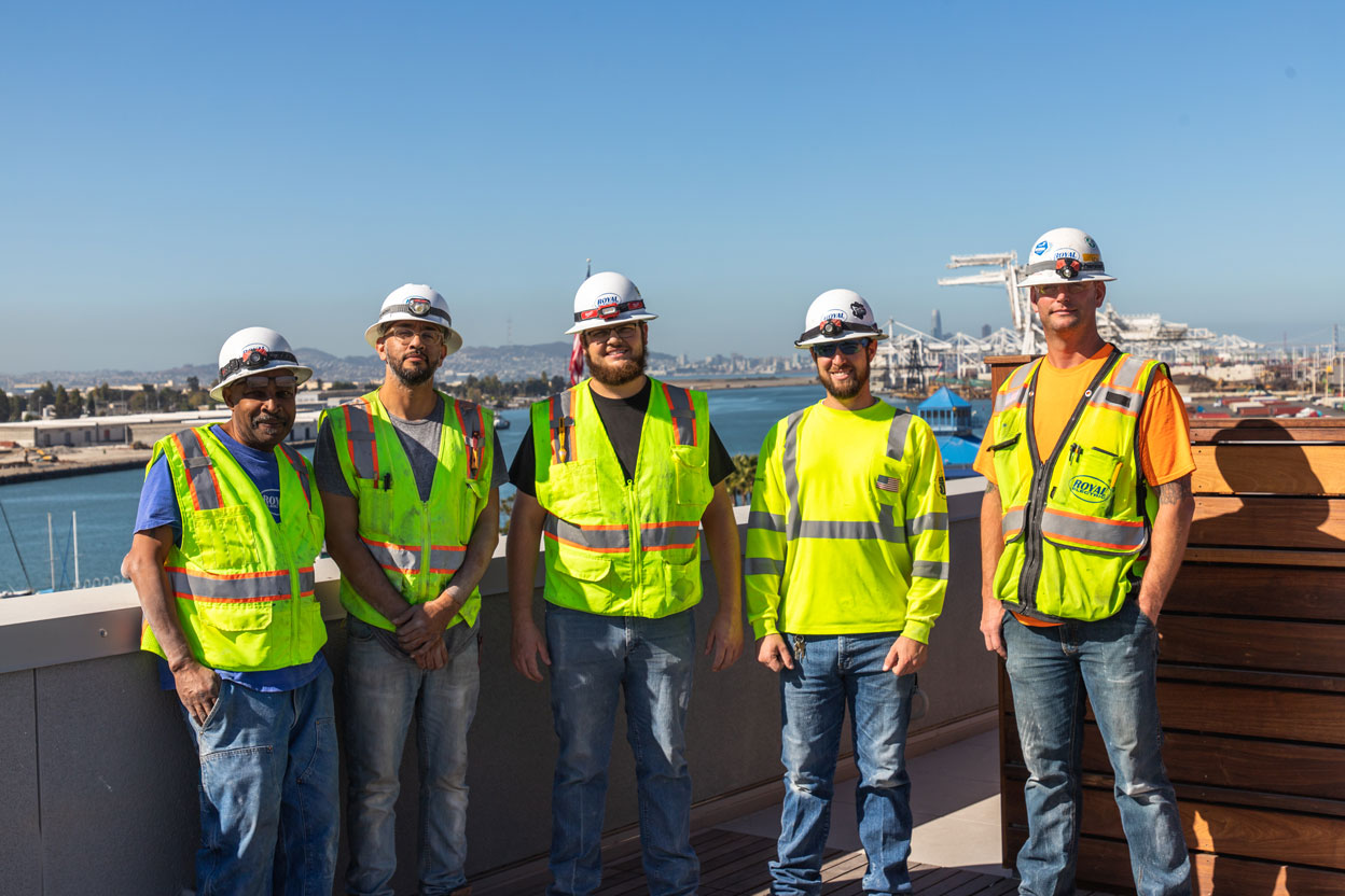 Royal Electric team members in a group