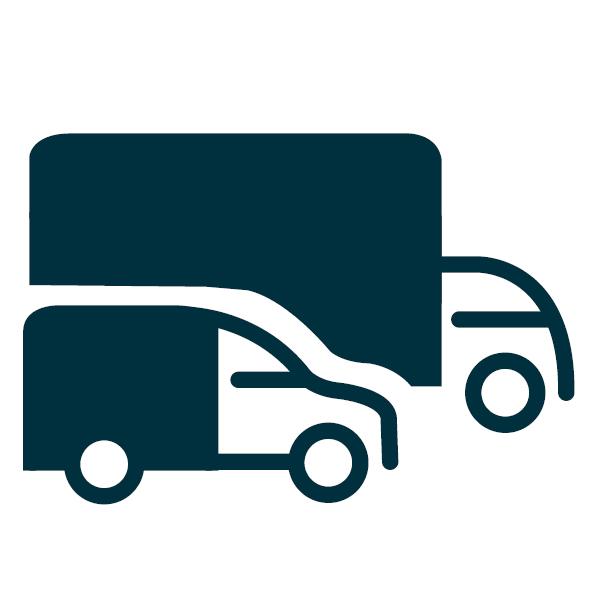 Track & monitor je vrachtwagens, bestelwagens en trailers