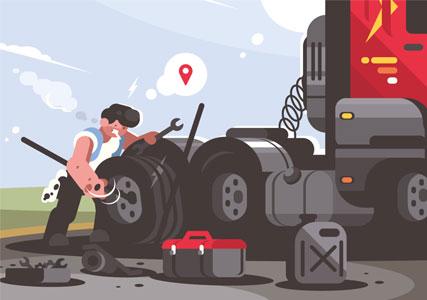 Volgsysteem vrachtwagen