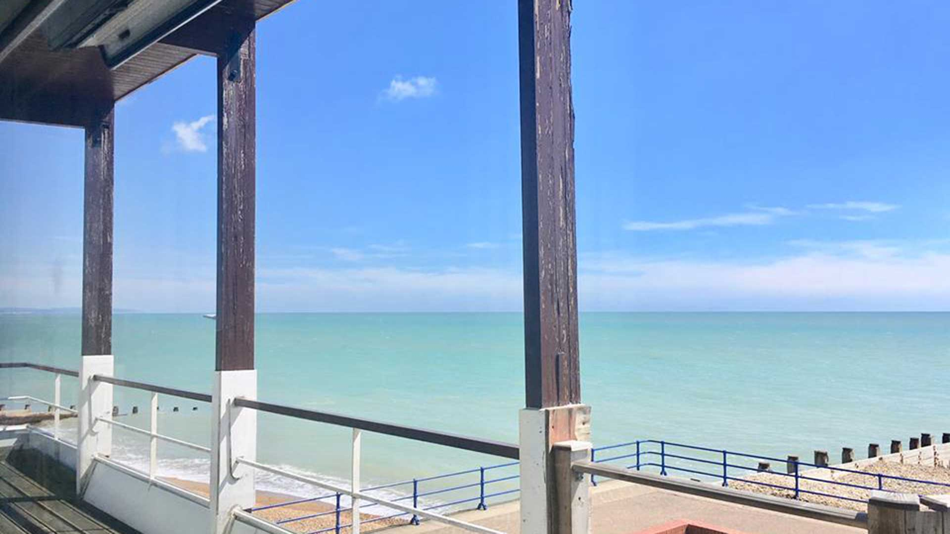 Looking out to sea from Natural Fitness & Therapies balcony