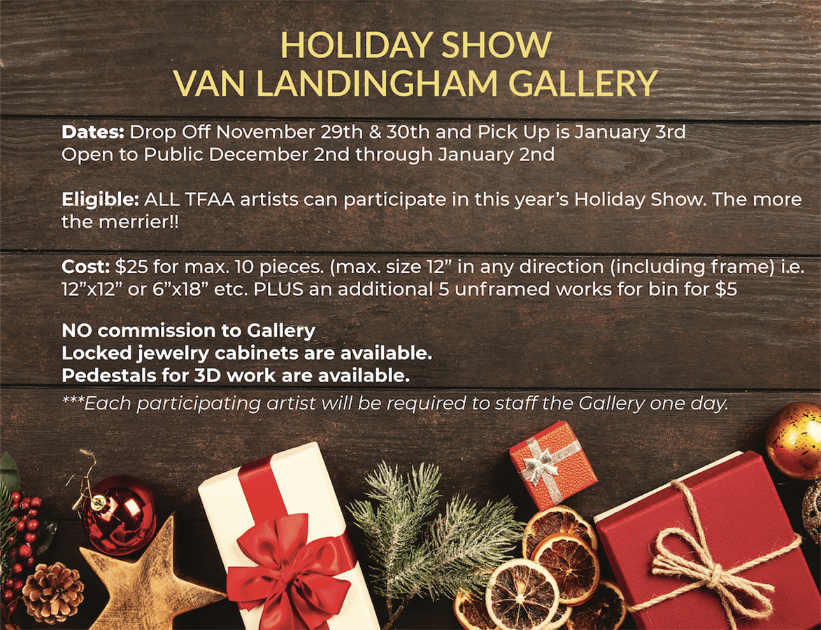Holiday Show (participants: TFAA members ONLY)