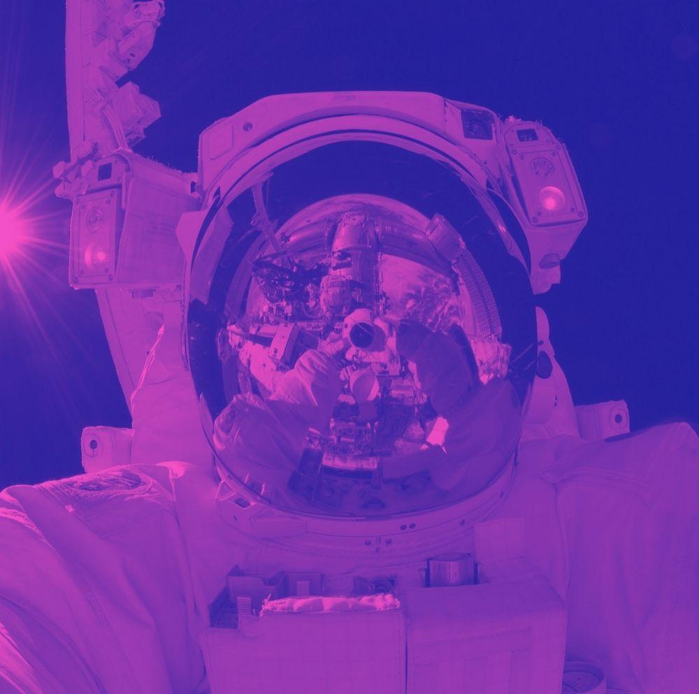 Stylized astronaut artwork