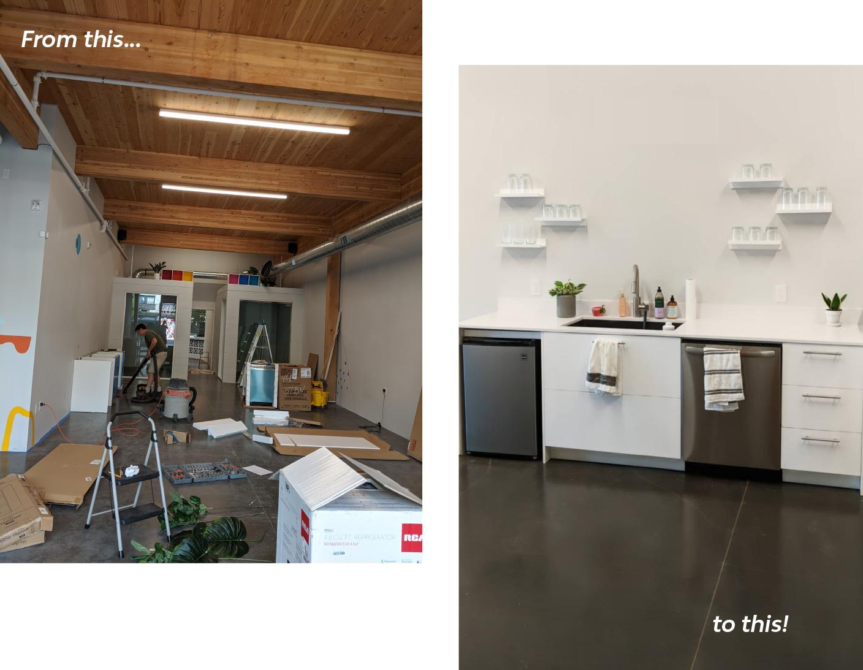Wink Digital's Kitchen Before/After