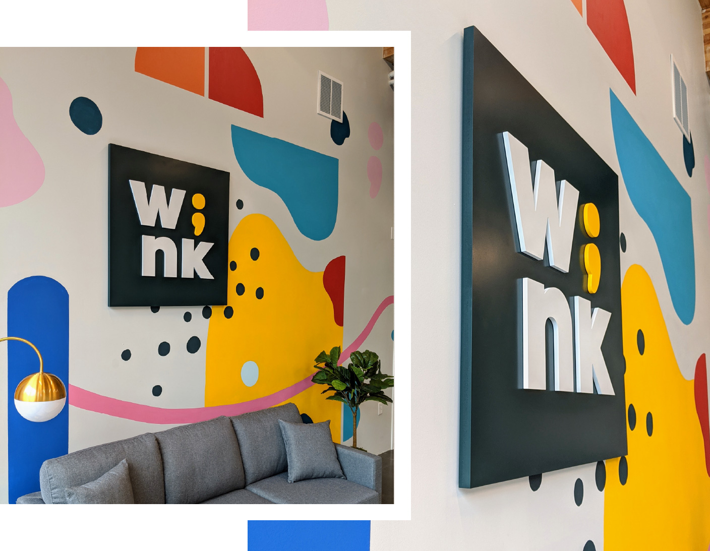 Internal Signage at Wink Digital in Portland, OR