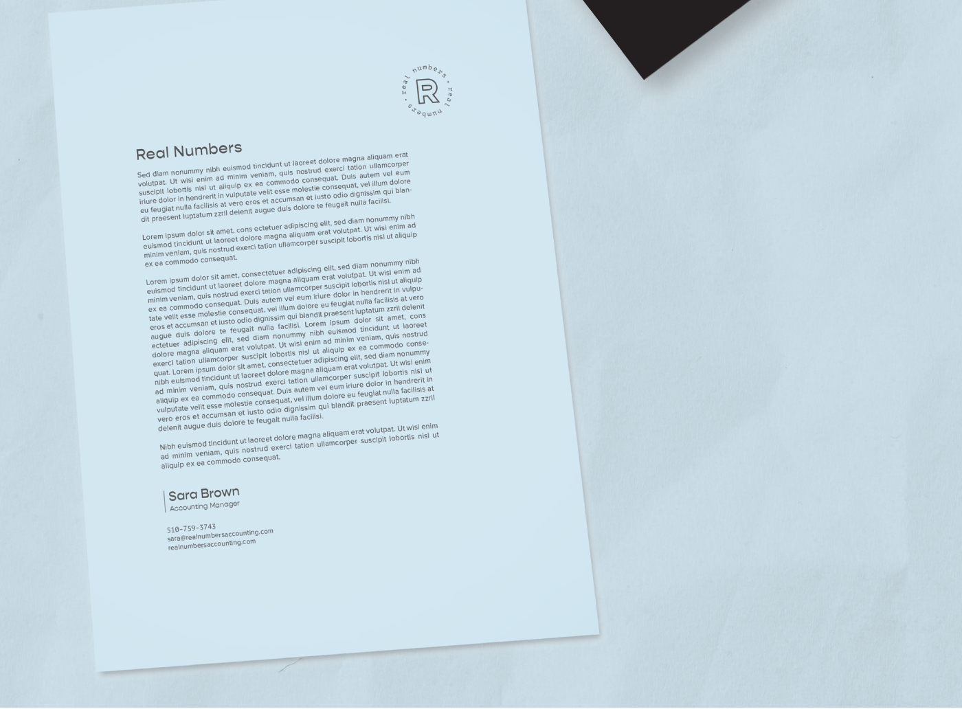 Real Numbers Letterhead by Wink Digital