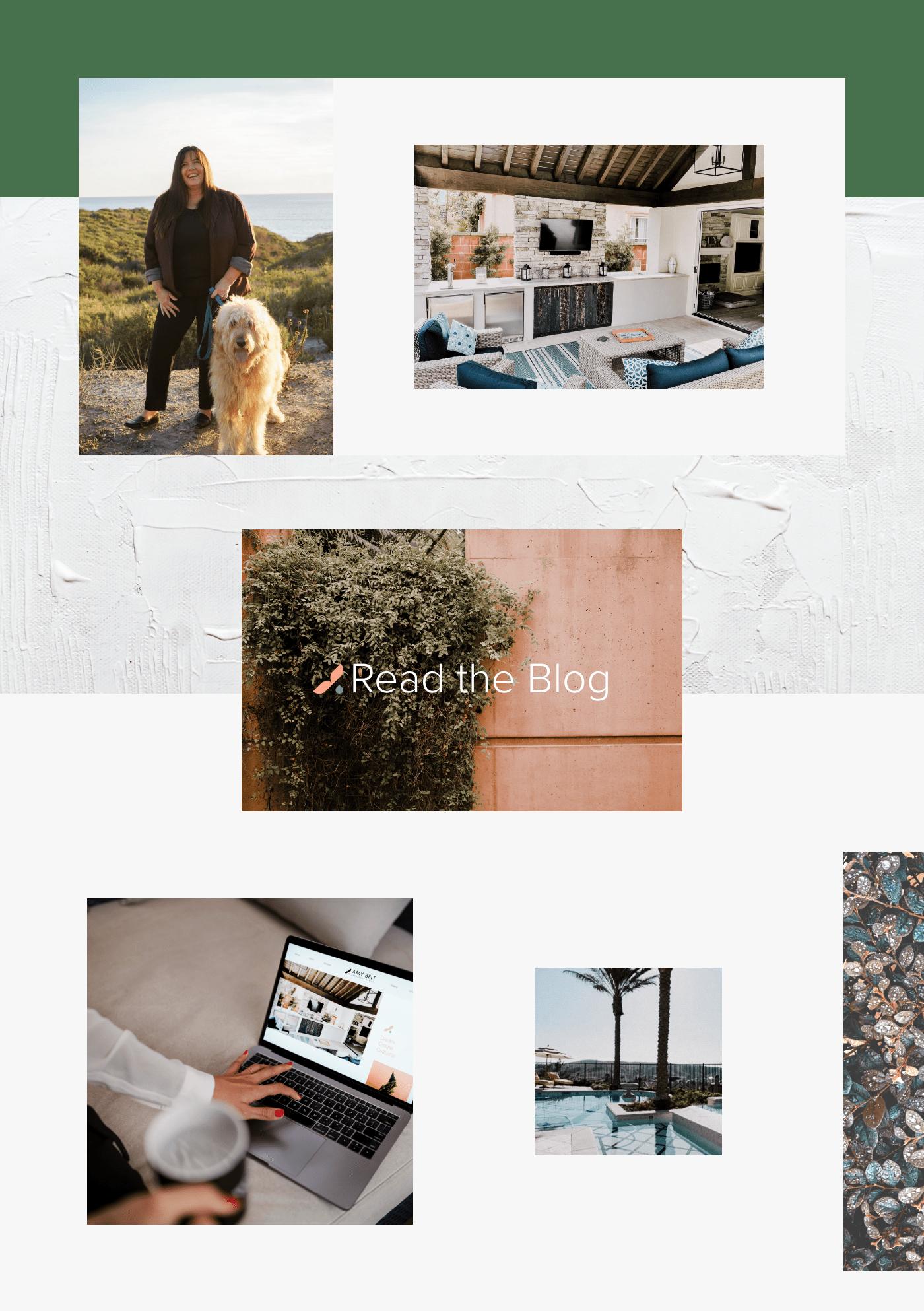 Amy Belt website by Wink Digital