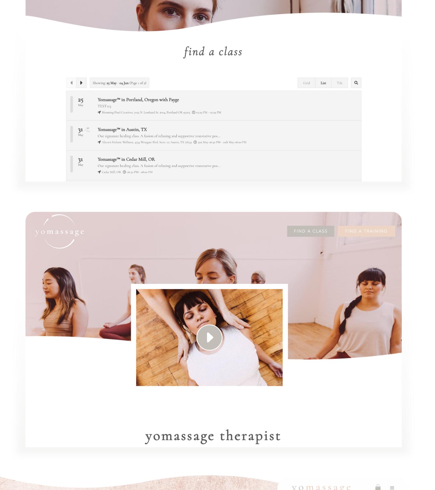 Yomassage website by Wink Digital // Payge H. Kerman