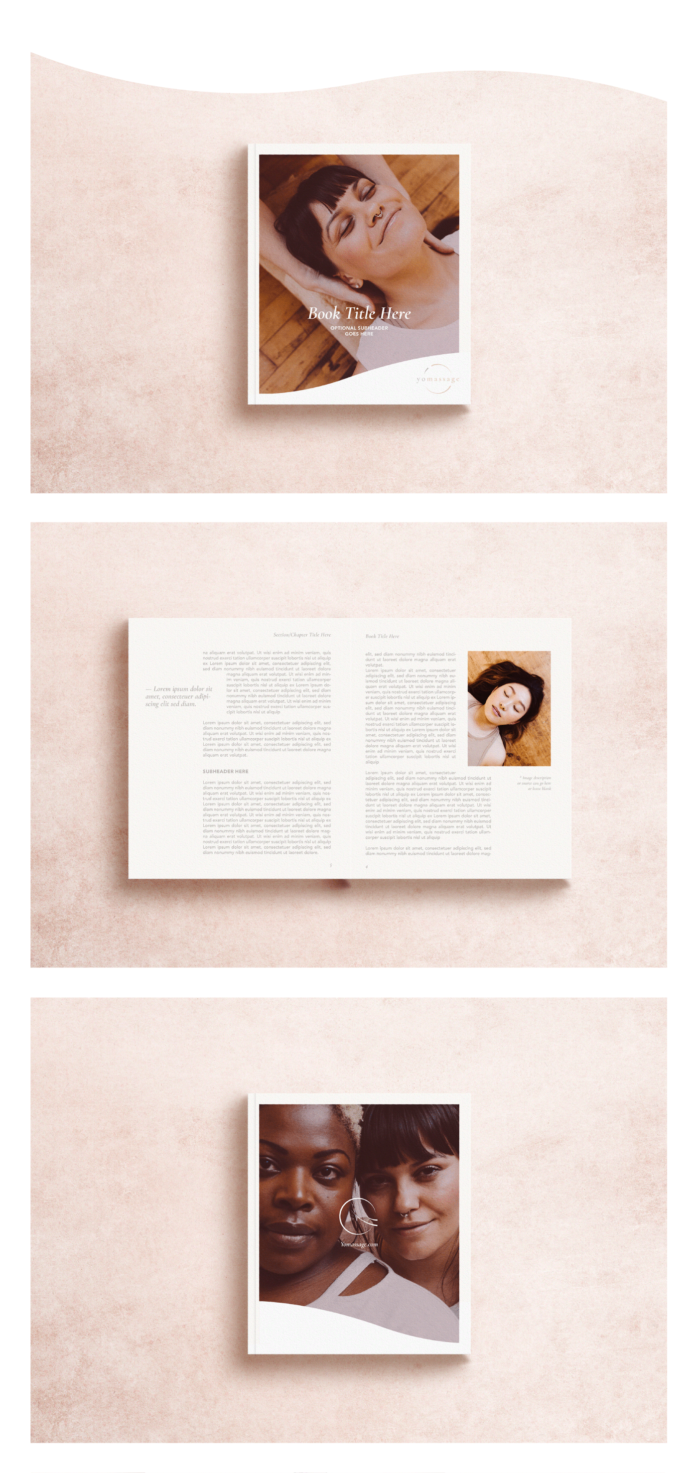 Yomassage book design by Wink Digital // Michelle Parent