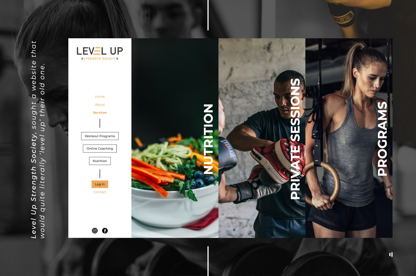 Level Up Strength Society website design and development by Wink Digital