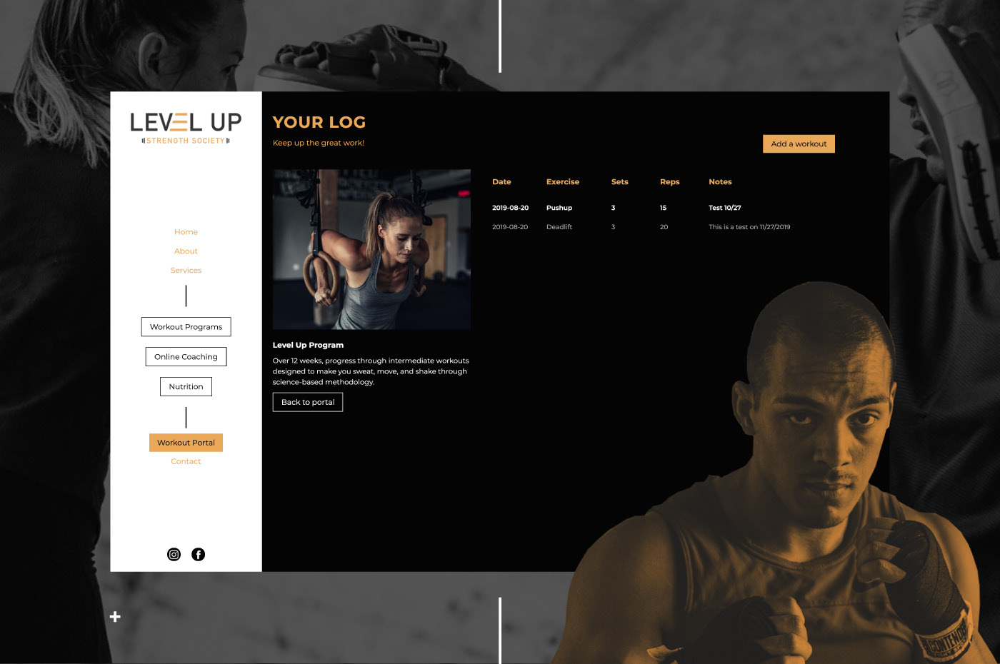 Level Up Strength Society website by Wink Digital