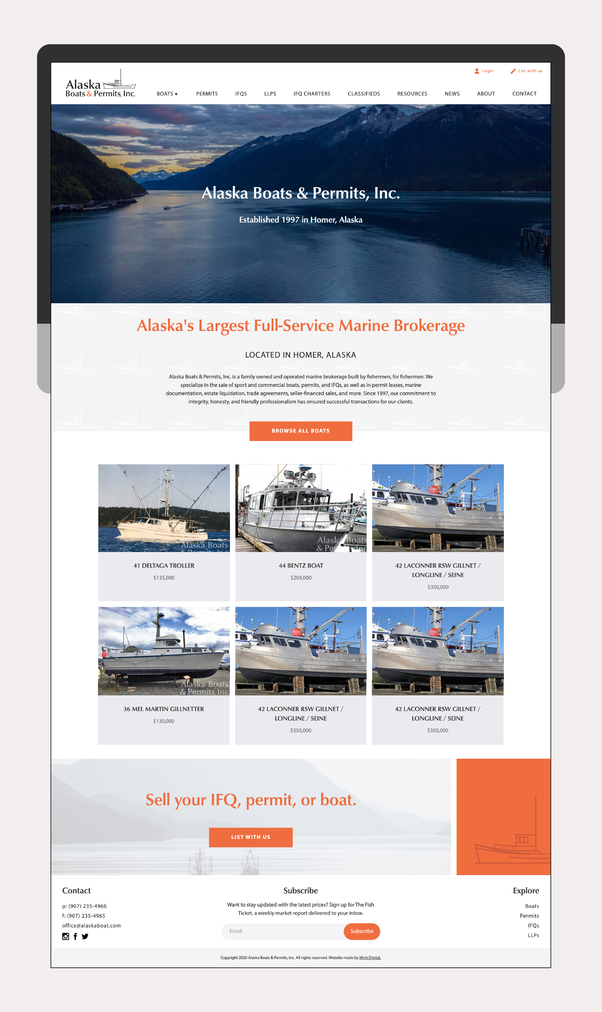 Alaska Boats & Permits by Wink Digital