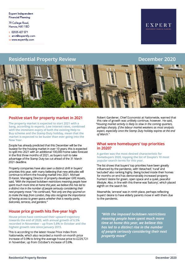 Residential Property Dec '20