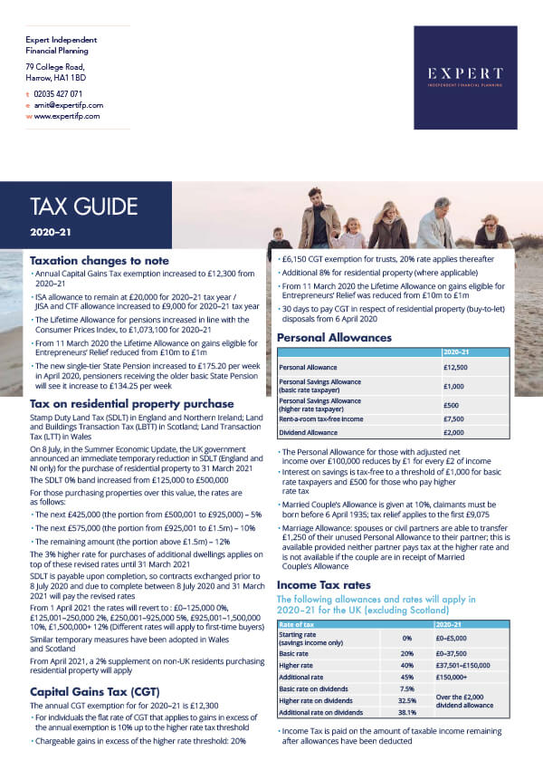 Tax Guide 2020-21