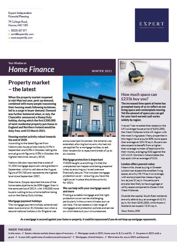 Home Finance Winter '21